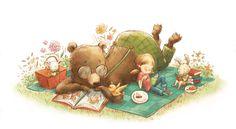 Picnic reader / Picnic lector (ilustración de Jennifer A. Bell)