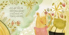 ohhh typography love! ♥   a spread from FROGGY WENT a-COURTIN'. illustrated by Kelly Thorn.