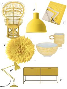 Interior designer and colour lover Sophie Robinson discusses her latest colour crush, Citron yellow and how to use it in interiors Yellow Wall Decor, Yellow Home Decor, Painted Stair Risers, Rattan Peacock Chair, Sophie Robinson, Yellow Sofa, Anglepoise, Interior House Colors, Wall Colors