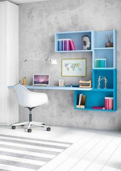 Decorate your room in a new style with murphy bed plans Home Office Desks, Home Office Furniture, Furniture Decor, Furniture Design, Furniture Dolly, Office Spaces, Small Office, Cheap Furniture, Rustic Furniture