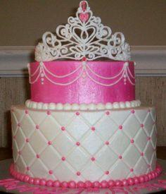 Princess crown cakes | Princess Cake, Beautiful Rich Princess Cake With Crown on top... was ...