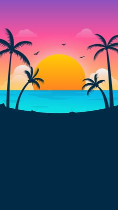 Summer Wallpaper, Cool Wallpaper, Mobile Wallpaper, Leaves Wallpaper Iphone, Minimal Wallpaper, Beautiful Photos Of Nature, Retro Waves, Tropical Party, Pin Art
