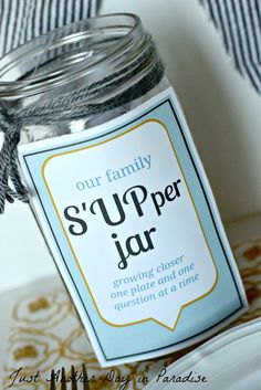 A cute idea to get your kids and maybe even a cranky spouse (ahem) talking at the dinner table.