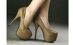 SP-ZJ12050710 zapatos de tacon estilo de elegante diseno especial color caqui  a las mujeres