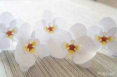 como fazer orquídeas de papel - The Blue Post