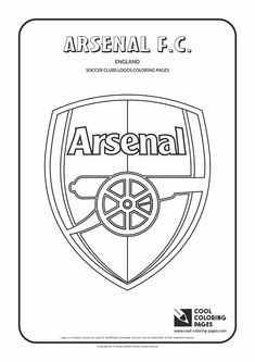 cool coloring pages soccer club logos arsenal fc logo coloring page with arsenal