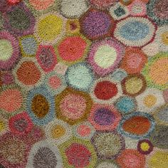 Scarf, Circle Pop,Selvedge by Sophie Digard