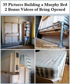 35 Pictures of Building a Murphy Bed | http://thehomesteadsurvival.com/35-pictures-building-murphy-bed/