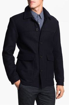 Theory Wool & Cashmere Blend Coat available at #Nordstrom
