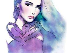 Bonita al pastel Esta es una copia de mi ilustración de moda original. Se inspira en un editorial de Elle Francia enero de 2012 con la hermosa