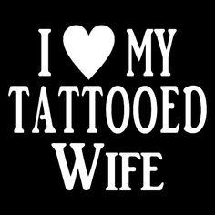 I Heart My Tattoed Wife t-shirt, I Heart My Tattooed Husband T-shirt - Tattoo tshirt. #tattoo #ink #etsy