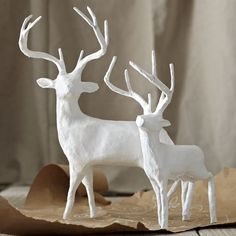 I know it's for a good cause in all, West Elm, but I just can't convince myself to spend $40 on the SMALL reindeer. I will be attempting to DIY this one.
