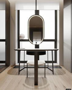 PR140 Apartment Furniture Dressing Table, Dressing Table Design, Unique Furniture, Furniture Making, Furniture Design, Vanity Design, Apartment Projects, Wardrobe Design, Contemporary Interior Design