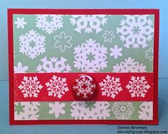 The Crafty Corgi I used coordinating papers from @Echo Park Paper and a @Studio_Calico Christmas badge to make this snowflake card.