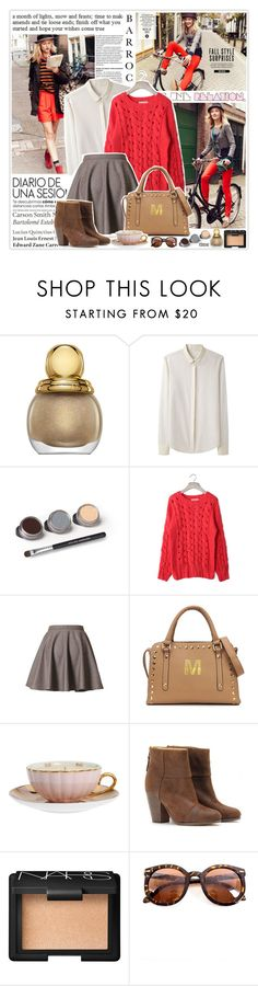 """Red Star...♥"" by zoeydiva ❤ liked on Polyvore featuring Paris Hilton, Christian Dior, rag & bone, Bare Escentuals, Tiffany & Co., MOR Cosmetics, NARS Cosmetics and Chicwish"