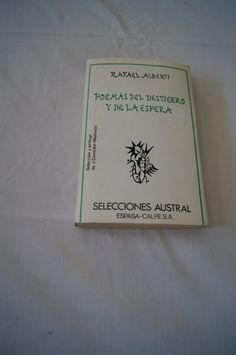 Vintage 1978 - Rafael alberti   Poemas del destierro y de la espera, Paperback Poetry Spanish Language by TheMercerStreetHouse on Etsy