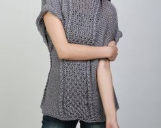 Hand knit woman sweater cropped sweater Little shrugcover up