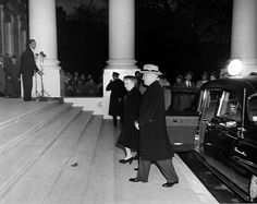 president harry truman and first lady bess truman returning to the white house after an extensive renovation, 1952
