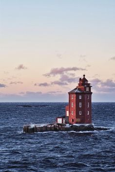 Nordic: The Lighthouse by Thomas Ramin. The Kjeungskjær Lighthouse - Norway Lighthouse Pictures, The Lighthouse, Beacon Of Light, Water Tower, Coastal, Beautiful Places, Scenery, Places To Visit, Around The Worlds