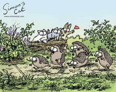 Simon's Cat videos and comics Cartoon Gifs, Animated Cartoons, Simons Cat Video, Funny Cats, Funny Animals, Funny Animal Pictures, Cat Gif, Cool Cats, Cats And Kittens