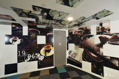 Décoration des murs et plafonds pour le siège social de Bouygues Télécom