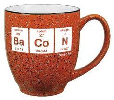 Periodic Bacon Mug-- Funny Coffee Mug! $11.99 geek