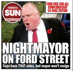 POLITICS - Rob Ford Smokes Crack Cocaine Scandal - 2013-2014