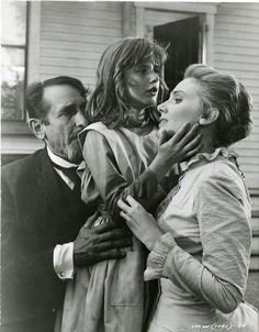 """Victor Jory, Patty Duke, and Inga Swenson in """"The Miracle Worker"""" (1962)  Patty Duke - Best Supporting Actress Oscar 1962"""