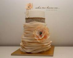 wedding ruffled cake