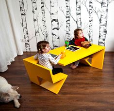 Kids Rooms / Creative Design to Everyday Objects by Thomas Laurens two seater table unfold thomas laurens 4