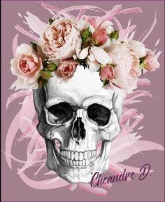 Skull Flower Crown Graphic Design