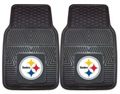 Pittsburgh Steelers Heavy Duty Vinyl Front Seat 2 Piece Car Mat Set