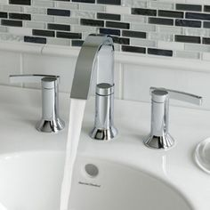 American Standard 7430.801.002 Berwick Berwick Widespread Lavatory Faucet with Lever Handles Polished Chrome-eFaucets.com