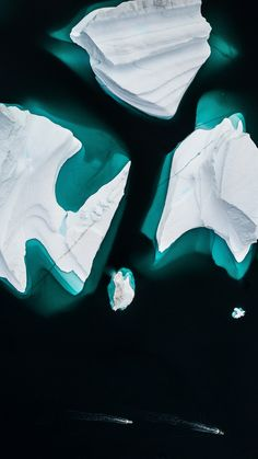 Icebergs, float, aerial view, Greenland wallpaper