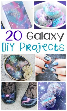 20 DIY Galaxy Projects Crafts For Teens To Make, Diy Projects For Teens, Diy For Teens, Diy Crafts To Sell, Handmade Crafts, Diy Craft Projects, Galaxy Projects, Galaxy Crafts, Diy Galaxie