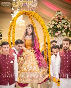 Her big day! Wedding Day Weddings Planner Plan Planning Your Big Day Pakistani Mehndi Dress, Bridal Mehndi Dresses, Pakistani Wedding Outfits, Bridal Dress Design, Pakistani Bridal Dresses, Pakistani Wedding Dresses, Pakistani Frocks, Pakistani Clothing, Bridal Outfits