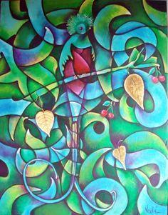 El hechizo del Quetzal Acrílico