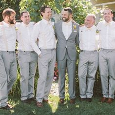 Light Gray and White Groomsmen Looks