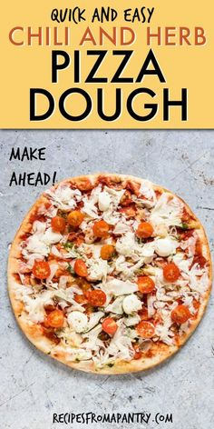 Make delicious and flavourful pizza by using this Chilli and Herb Pizza Dough recipe for your crust! Load on your desired toppings for the perfect pizza night. Herb Pizza Dough Recipe, Whole Wheat Pizza Crust Recipe, Side Recipes, Pizza Recipes, Appetizer Recipes, Family Recipes, Bread Recipes, Pizza Shapes, Thin Crust Pizza