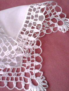 Romans z szydełkiem: Sniegowa kołderka Crochet Boarders, Crochet Edging Patterns, Crochet Lace Edging, Doily Patterns, Crochet Trim, Crochet Stitches, Crocheted Lace, Crochet Cord, Crochet Quilt