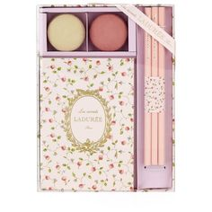 Ladurée Stationery Set (55 CAD) ❤ liked on Polyvore featuring home, home decor, stationery, fillers, decor and accessories