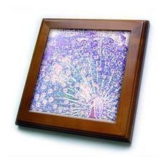 """Patricia Sanders Creations - Purple Peacock Art - Framed Tiles :           Purple Peacock Art Framed Tile is 8"""" x 8"""" with a 6"""" x 6"""" high gloss inset ceramic tile, surrounded by a solid wood frame with predrilled keyhole for easy wall mounting.                           **Read more Details : http://gethotprice.com/appin/?t=B005FWHLDW"""