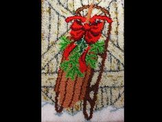 Rug Latch Hook Christmas Decoration Christmas by ADKArtsBoutique  #rug #christmas #decoration