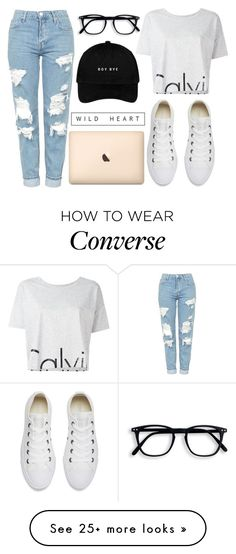 """""""Wild heart"""" by kattykrazy on Polyvore featuring Calvin Klein Jeans, Topshop and Converse"""