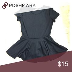 Black Peplum Top Solid black peplum style top. So cute with leggings or skinnies. Charming Charlie Tops Blouses