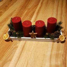 Vánoční svícen ... vlastni výroba France, Table Decorations, Furniture, Home Decor, Decoration Home, Room Decor, Home Furnishings, Home Interior Design, Dinner Table Decorations