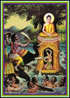 In Buddhism, Mara is the demon who assaulted Gautama Buddha beneath the bodhi tree, using violence, sensory pleasure and mockery in an attempt to prevent the Buddha from attaining enlightenment.