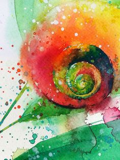 Snail - watercolour painting by Tilen Ti Watercolour 28 Dec 2014  This reproduction is printed on 200 g/m fine art paper A4 • 210 x 297 mm • 8.3 x 11.7 inches A3 • 297 x 420 mm • 11.7 x 16.5 inches [including 10mm white border all round]  .............................................................................................................. Check out more painting & illustration from Tilen Ti in his facebook: Tilen Ti & TilenTi.Illustrator