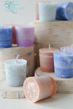 How to make votive candles