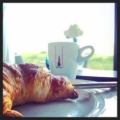 #myview #hotelontbijtje: Koffie en croissant.... :-)